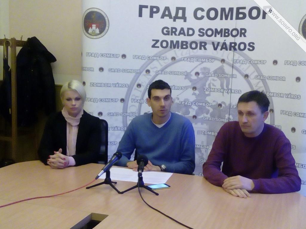 Konferencija za štampu Izveštaj za decembar - predstavnici Saveza i gradska većnica