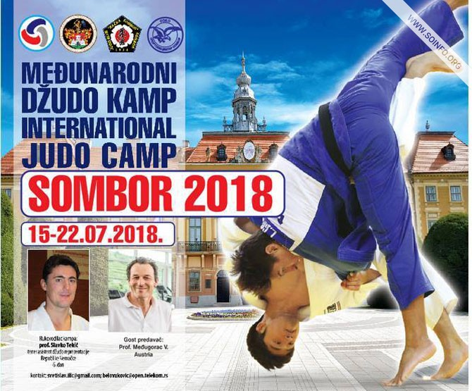 10. Međunarodni džudo kamp Sombor - plakat