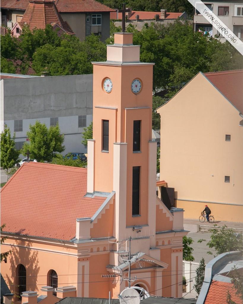 Sombor - Toranj Evangelističke crkve iz 1901. - foto dana - 22.7.2019.