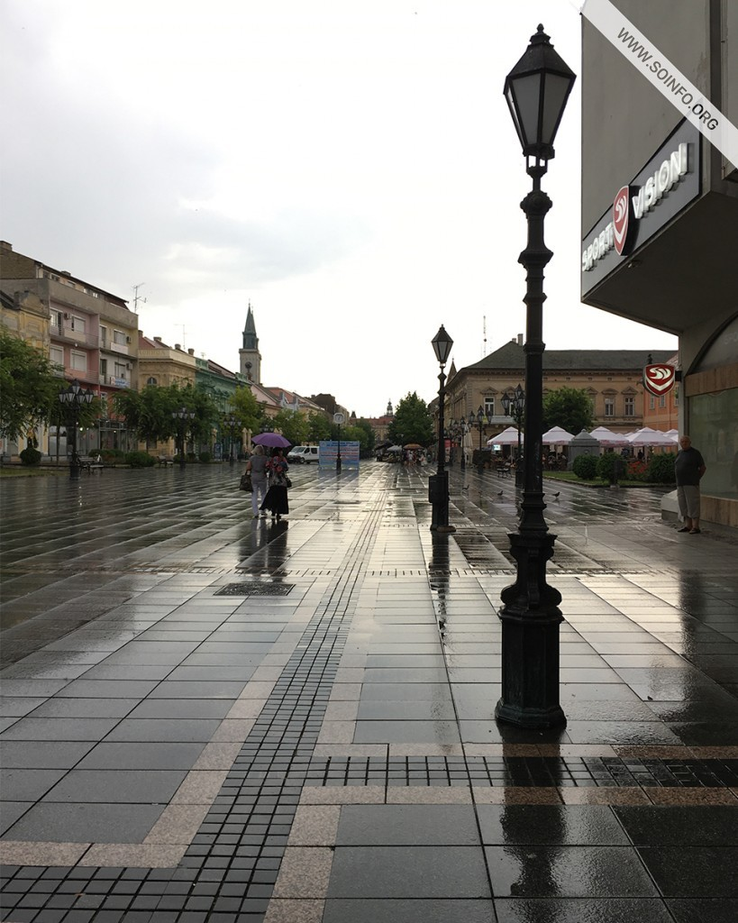 Sombor: Glavna ulica posle pljuska - foto dana - 28.7.2019.